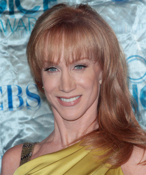 Kathy Griffin Long Straight Formal   Hairstyle