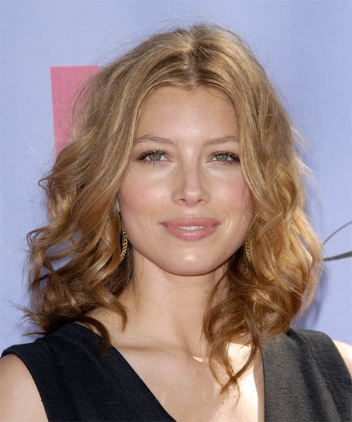 Jessica Biel Long Wavy Formal    Hairstyle