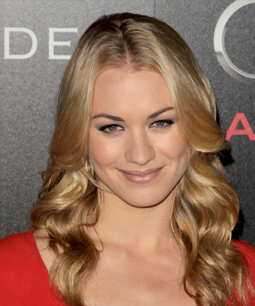 Yvonne Strahovski Long Wavy Casual    Hairstyle   -  Blonde Hair Color