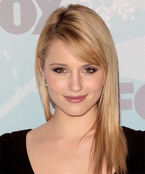 Dianna Agron Long Straight Casual   Hairstyle