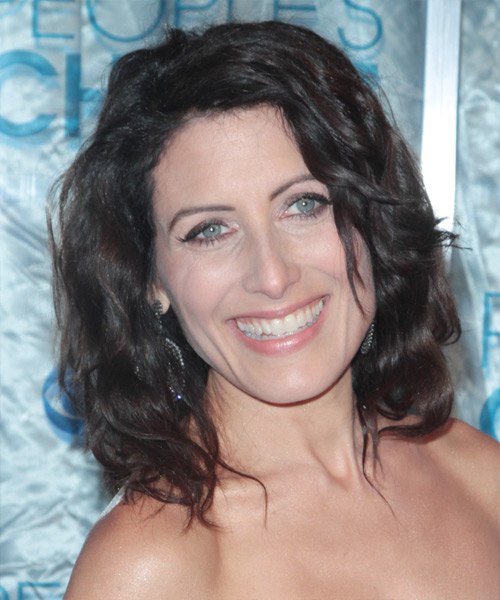 Lisa Edelstein Medium Wavy Casual   Hairstyle
