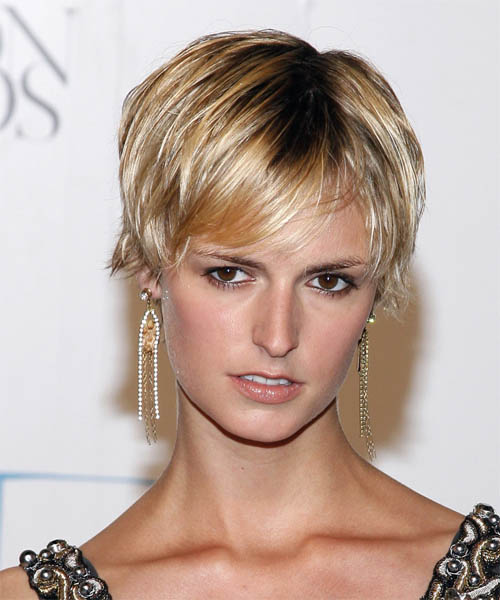 Jacquetta Wheeler Short Straight Casual Pixie  Hairstyle