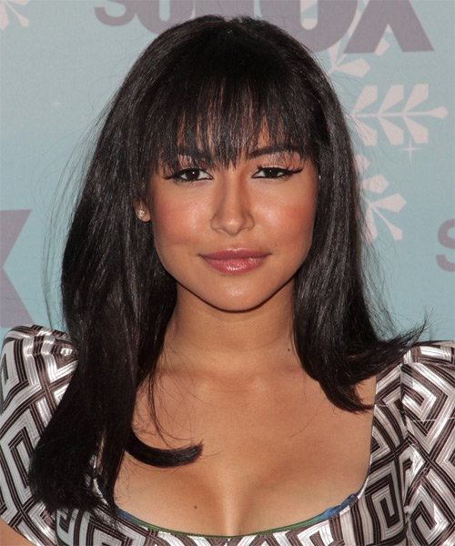 images of haircuts with bangs naya rivera casual hairstyle with blunt cut 3393
