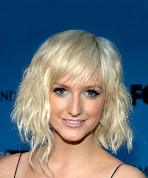 Ashlee Simpson Medium Wavy Casual   Hairstyle