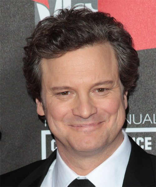Colin Firth Short Wavy Casual   Hairstyle   - Dark Brunette
