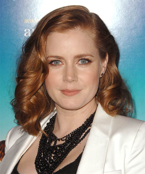 Amy Adams Medium Wavy Formal   Hairstyle