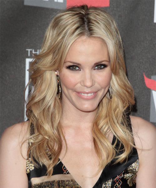 Leslie Bibb Long Wavy Formal   Hairstyle