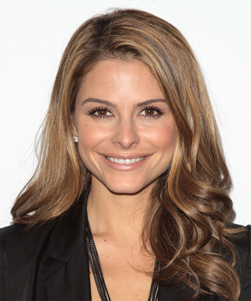 Maria Menounos Long Wavy Formal   Hairstyle