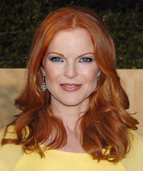 Marcia Cross Long Wavy Red hairstyle