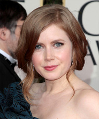 Amy Adams  Long Curly Formal   Updo Hairstyle   - Dark Blonde Hair Color