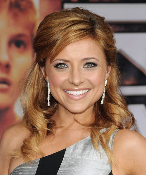 Christine Lakin Half Up Long Curly Formal  Half Up Hairstyle