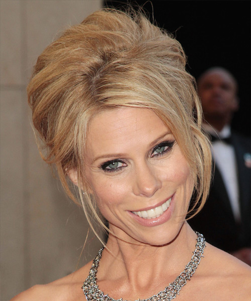 Cheryl Hines  Long Straight Formal   Updo Hairstyle   - Medium Blonde Hair Color