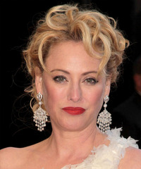 Virginia Madsen  Long Curly   Light Blonde and  Brunette Two-Tone  Updo