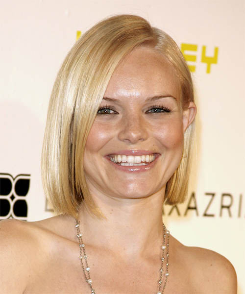 Kate Bosworth Medium Straight Formal   Hairstyle