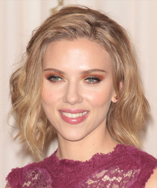 Scarlett Johansson Updo Long Straight Casual Updo Hairstyle