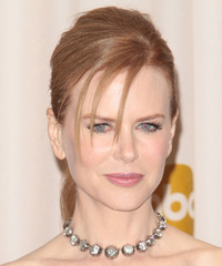 Nicole Kidman  Long Straight Formal   Updo Hairstyle   - Light Red Hair Color