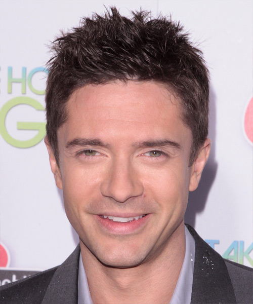 Topher Grace Short Straight    Brunette   Hairstyle