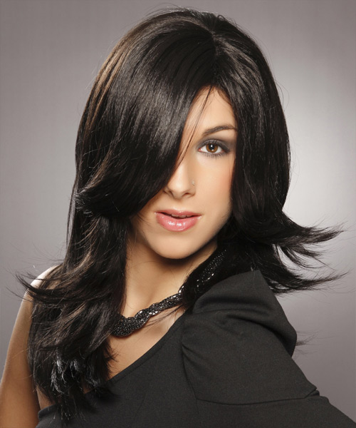 Long Straight Formal   Hairstyle   - Black