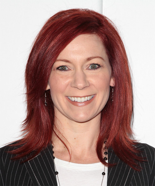 Carrie Preston Medium Straight Casual   Hairstyle