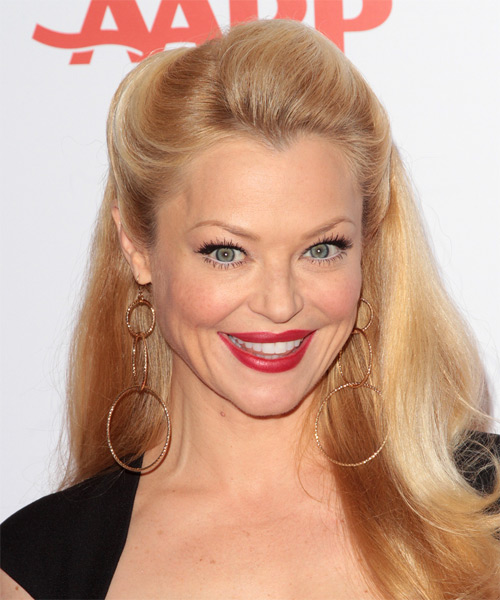 Charlotte Ross Half Up Long Straight Casual  Half Up Hairstyle