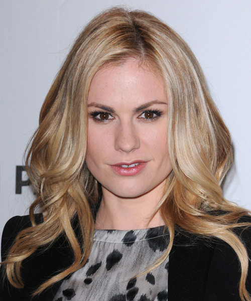 Anna Paquin Long Wavy Casual   Hairstyle   - Medium Blonde
