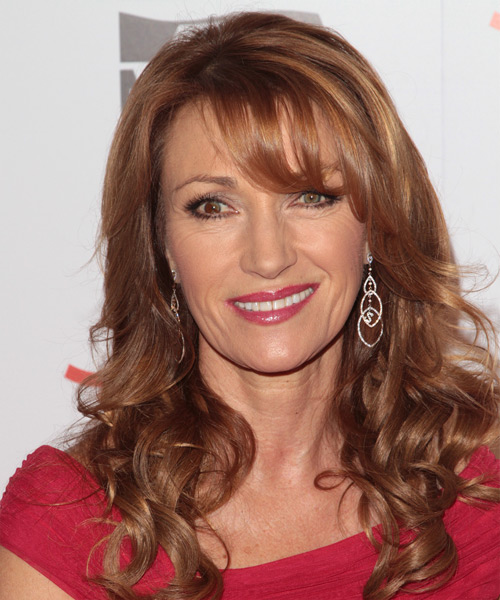 Jane Seymour Long Wavy Formal Hairstyle Side Swept