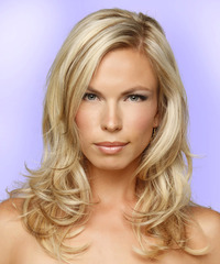 Long Straight Formal    Hairstyle   -  Blonde Hair Color with Light Blonde Highlights