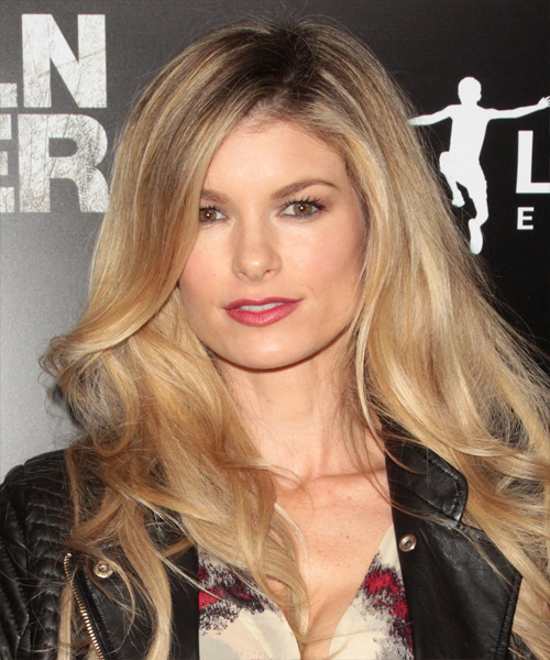 Marisa Miller Casual Long Straight Hairstyle Dark Blonde