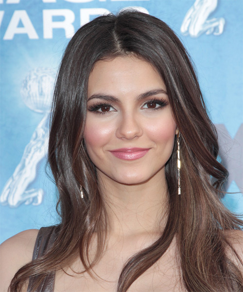 Victoria Justice Long Straight Casual   Hairstyle   (Chocolate)