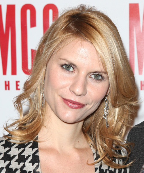 Claire Danes Medium Wavy Casual   Hairstyle   - Light Blonde (Copper)