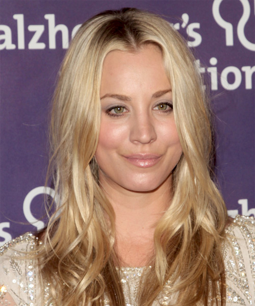 Kaley Cuoco Long Wavy Casual    Hairstyle   -  Golden Blonde Hair Color