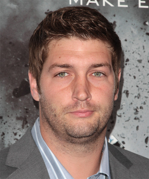 Jay Cutler Short Straight Casual   Hairstyle   - Medium Brunette
