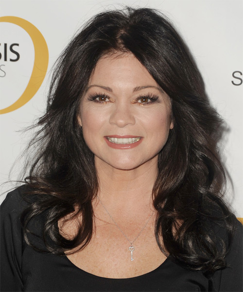 Valerie Bertinelli Long Wavy Casual   Hairstyle   - Dark Brunette