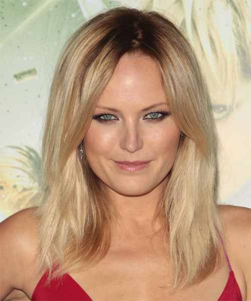 Malin Akerman Medium Straight Casual    Hairstyle   -  Blonde Hair Color with Light Blonde Highlights