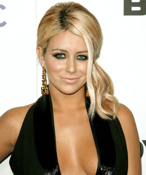 Aubrey O Day Updo Long Curly Casual  Updo Hairstyle