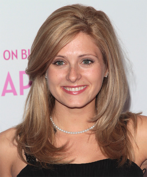 Cameron Goodman Long Straight Formal   Hairstyle with Side Swept Bangs  - Light Brunette (Copper)