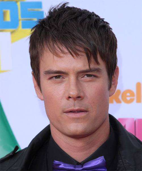 Josh Duhamel Short Straight Casual   Hairstyle with Layered Bangs  - Dark Brunette
