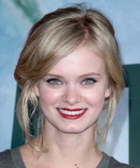 Sara Paxton  Long Straight Casual   Updo Hairstyle   - Dark Blonde Hair Color with Light Blonde Highlights