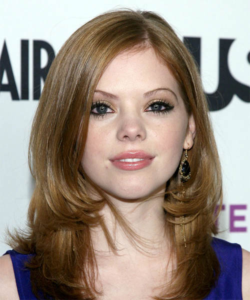 Dreama Walker Long Straight Formal   Hairstyle