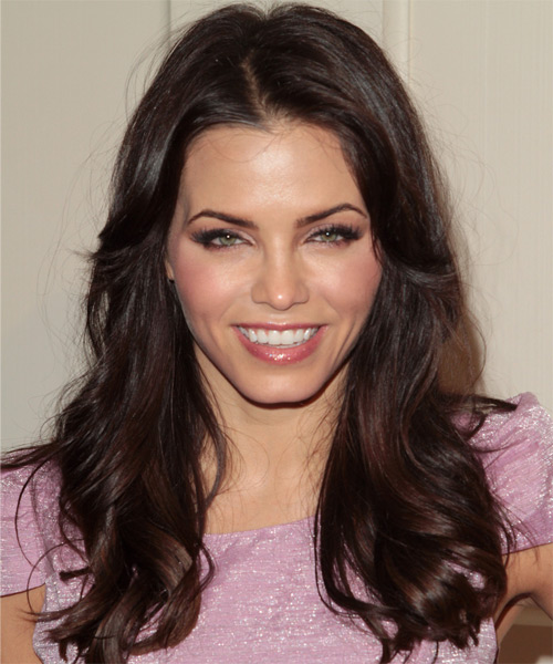 Jenna Dewan Long Wavy Casual    Hairstyle   - Dark Brunette Hair Color