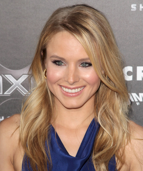 Kristen Bell Long Wavy Casual   Hairstyle   - Medium Blonde
