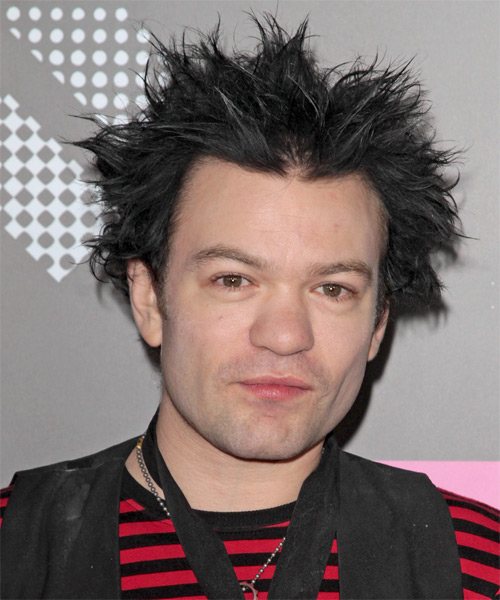 Deryck Whibley  Short Straight Alternative   Hairstyle   - Black