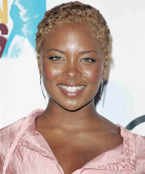 Eva Pigford Short Wavy Pixie hair cut