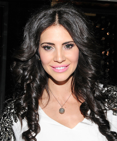Hope Dworaczyk Long Curly Casual    Hairstyle   - Black  Hair Color