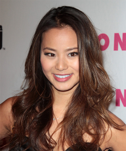 Jamie Chung Long Wavy Casual   Hairstyle   - Medium Brunette (Chocolate)