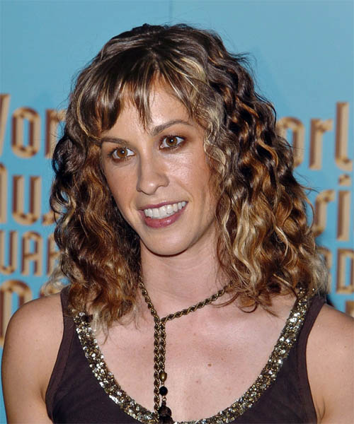 Alanis Morissette Long Curly Casual   Hairstyle