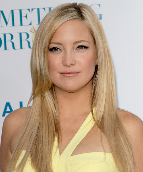 Kate Hudson Long Straight Formal   Hairstyle   - Light Blonde (Champagne)