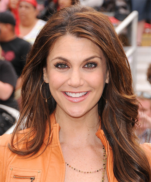 Samantha Harris Long Straight Casual   Hairstyle   - Medium Brunette