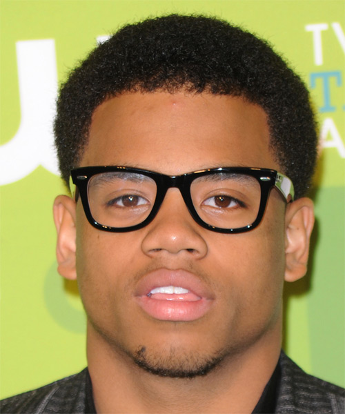 Tristan Wilds Short Curly Casual  Afro  Hairstyle   - Black  Hair Color