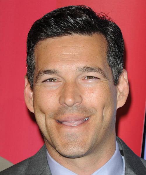 Eddie Cibrian Short Straight Formal   Hairstyle   - Black (Salt and Pepper)